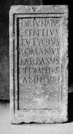 Dedica sacra - Epitafio
