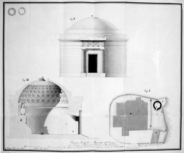 Progetto di un museo di triestine antichità col monumento sepolcrale di Winckelmann